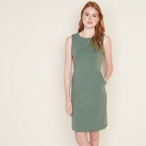 💥 Ponte Knit Sheath Dress with Pockets